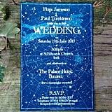 Celestial Star Chart Wedding Invitations