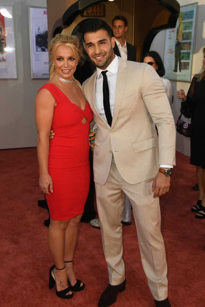 Britney Spears and Sam Asghari at the Once Upon a Time in Hollywood LA premiere.