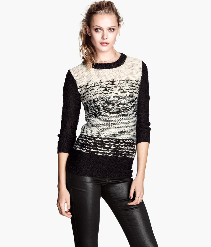 We're pretty into the texture on this H&M knit sweater ($35).