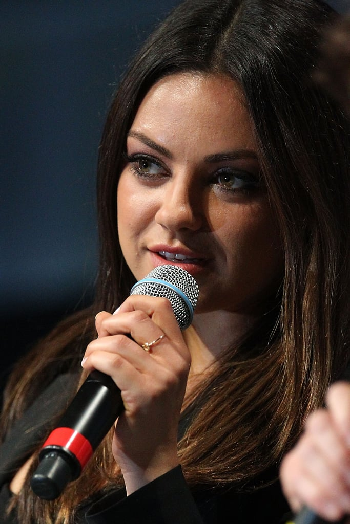 Mila Kunis promoted Oz: The Great and Powerful at Comic-Con.