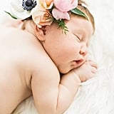 Flower Crown Newborn Photo Shoot