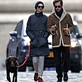 Anne Hathaway and Adam Shulman picked up juice drinks in NYC.