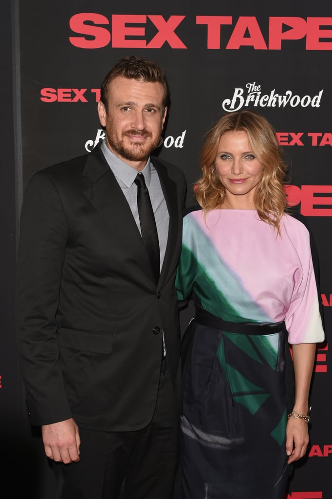 Cameron Diaz and Jason Segel shared more than a few sweet red carpet moments in NYC, where the pair stepped out for a screening of their film Sex Tape on Monday. The actress struck a few sexy solo poses before linking up with Jason and their younger costars, Sebastian Hedges Thomas and Giselle Eisenberg. Throughout the night, Cameron was all smiles, sharing a cute look with Jason ahead of the screening. Her appearance comes after a recent trip to Florida, where Cameron slipped into a bikini and spent time with family, friends, and her boyfriend, Benji Madden. Take a look at all of the best pictures from the premiere, and check out Sex Tape when the movie hits theaters on July 18!