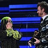 Pictures of Billie Eilish's Acceptance Speech at the Grammys
