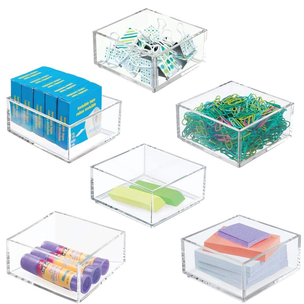 Mdesign Plastic Stackable Drawer Organizer Useful Drawer