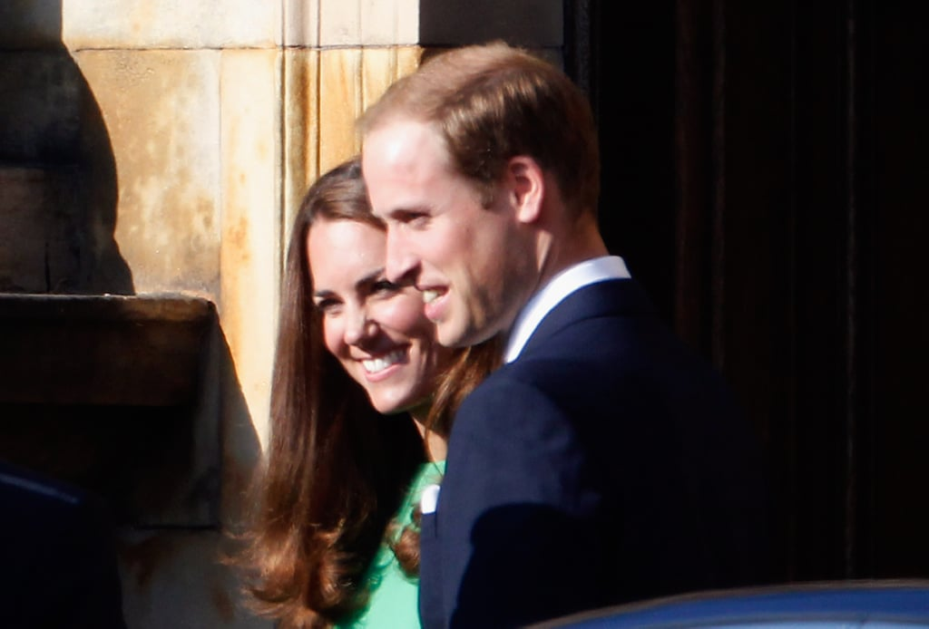 Kate Middleton and Prince William together in Edinburgh.