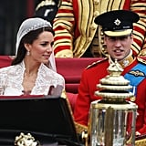 Prince William and Kate Middleton's Carriage Procession Pictures