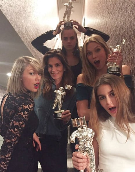 """When They Had a """"Bad Blood"""" Reunion Complete With Matching Moon Men"""