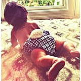 Vanessa Lachey dressed up her son, Camden, in a bunny diaper to celebrate Easter. Source: Twitter user VanessaLachey