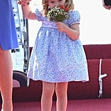 Princess Charlotte Smelling Flowers in Germany 2017