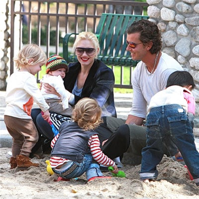 Gwen Stefani, Gavin Rossdale, Kingston Rossdale and Zuma Rossdale Out on Thanksgiving