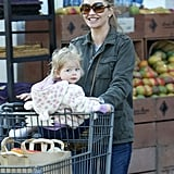 Rebecca Gayheart and her daughter Georgia Dane went grocery shopping on Sunday in LA.