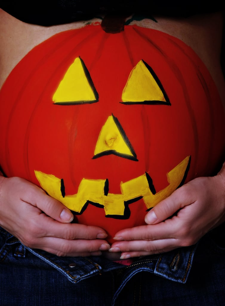 Painted Belly Halloween Ideas For Pregnant Women Popsugar Family