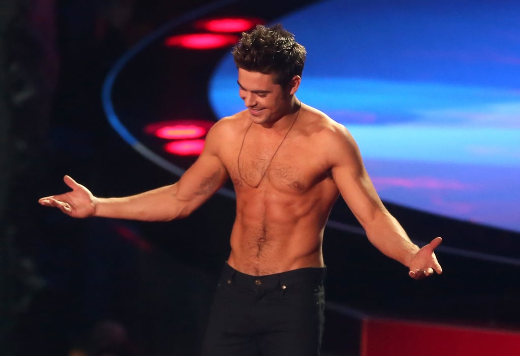 Zac Efron Shirtless At 2014 Mtv Movie Awards  Popsugar -7986