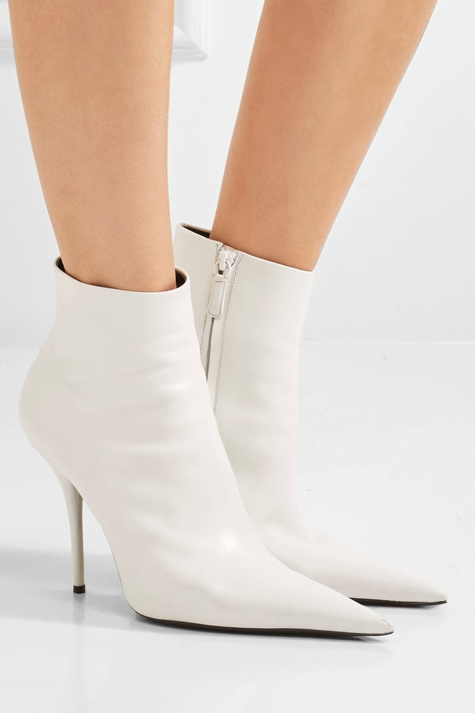 BalenciagaLeather Ankle Boots OxMTXYQ