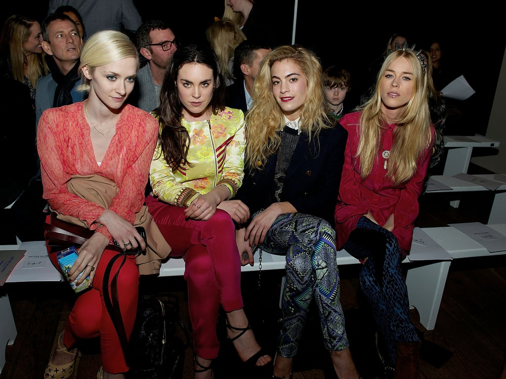 Portia Freeman, Tallulah Harlech, Chelsea Leyland and Mary Charteris at Matthew Williamson