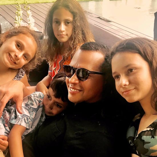 Jennifer Lopez and Alex Rodriguez With Their Kids July 2017