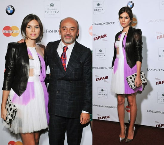 Pop Magazine Editor Dasha Zhukova in Rodarte Dress at Fetish by Christian Louboutin and David Lynch Exhibition