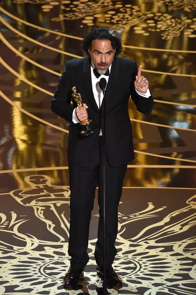 Accepting His Best Director Award — and Giving an Empowering Speech