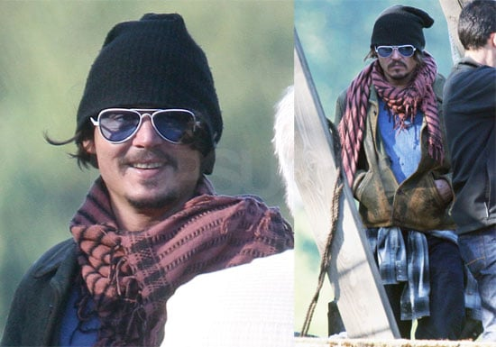 Photos of Johnny Depp on Babybird Music Video Set in UK