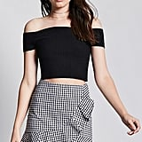 Forever 21 Gingham Ruffle Mini Skirt