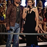 Jason Aldean and Kristen Bell cohosted the evening's event.