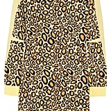 Leopard, always in style, has a cartoon feel in Kenzo's sweater dress ($224, originally $447).