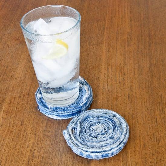 DIY Rolled-Jean Coasters