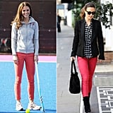 When They Owned the Same Pair of Coral-Colored Jeans