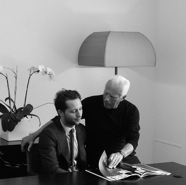 Derek Blasberg hung out with Giorgio Armani — no big deal.  Source: Instagram user derekblasberg