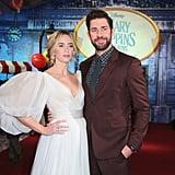 Emily Blunt and John Krasinski Mary Poppins Premiere Photos