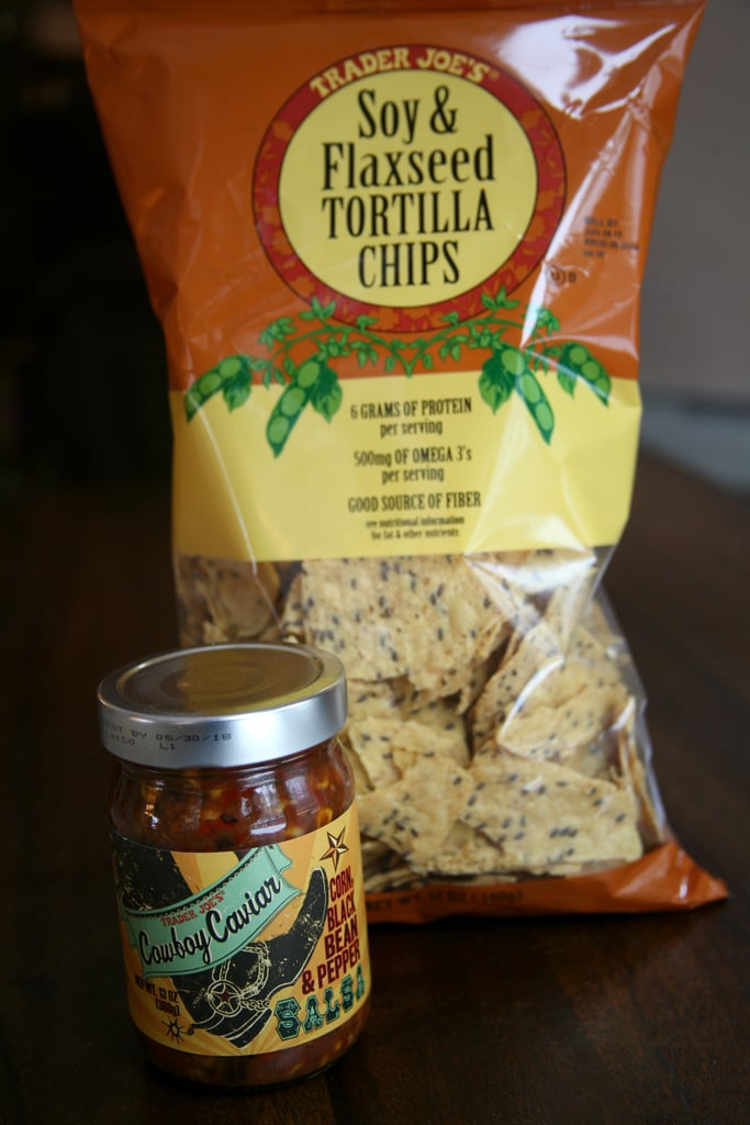 Soy & Flaxseed Tortilla Chips With Cowboy Caviar