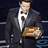 Mark Wahlberg presented the award for best sound editing, which ended in a tie.