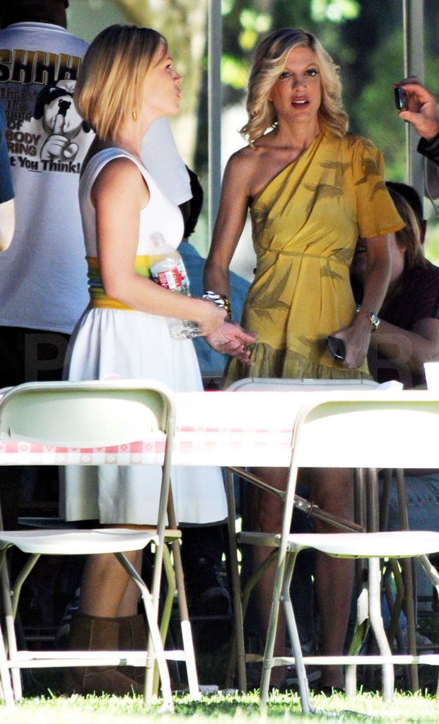 Jennie and Tori Filming 90210