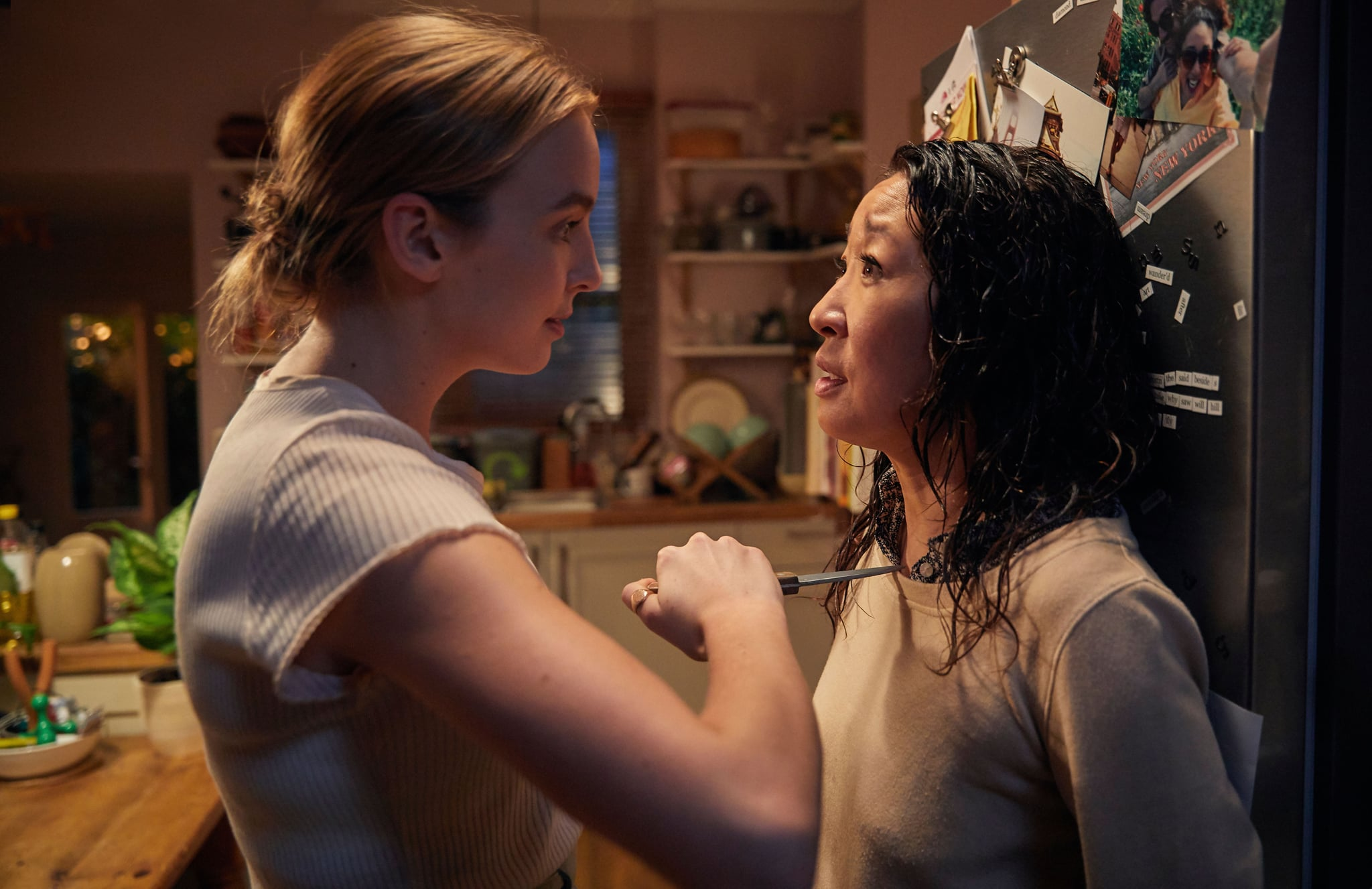 KILLING EVE, from left: Jodie Comer, Sandra Oh, (Season 1, premieres April 8, 2018). photo: BBC-America / Courtesy: Everett Collection