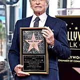 Michael Douglas Hollywood Walk of Fame Ceremony
