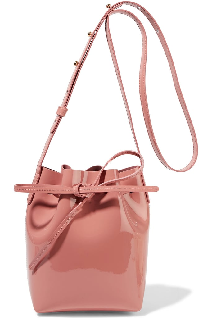Mansur Gavriel Mini Mini Patent-Leather Bucket Bag