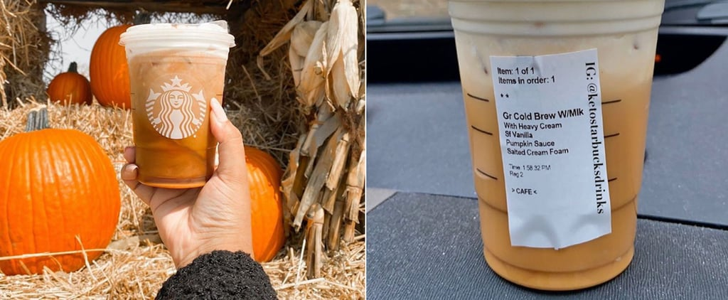 Starbucks Keto Pumpkin Cream Cold Brew Drink