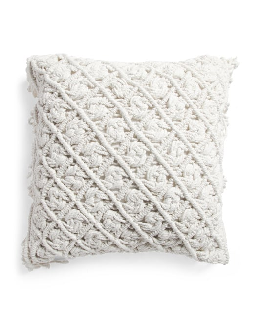 Made in India Macrame Pillow