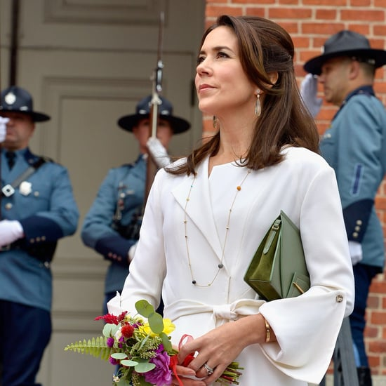 Princess Mary White Coat Dress in Boston, Sept. 2016