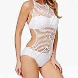 Kenneth Cole Wrapped in Love Crochet High-Neck Cutout One-Piece Swimsuit