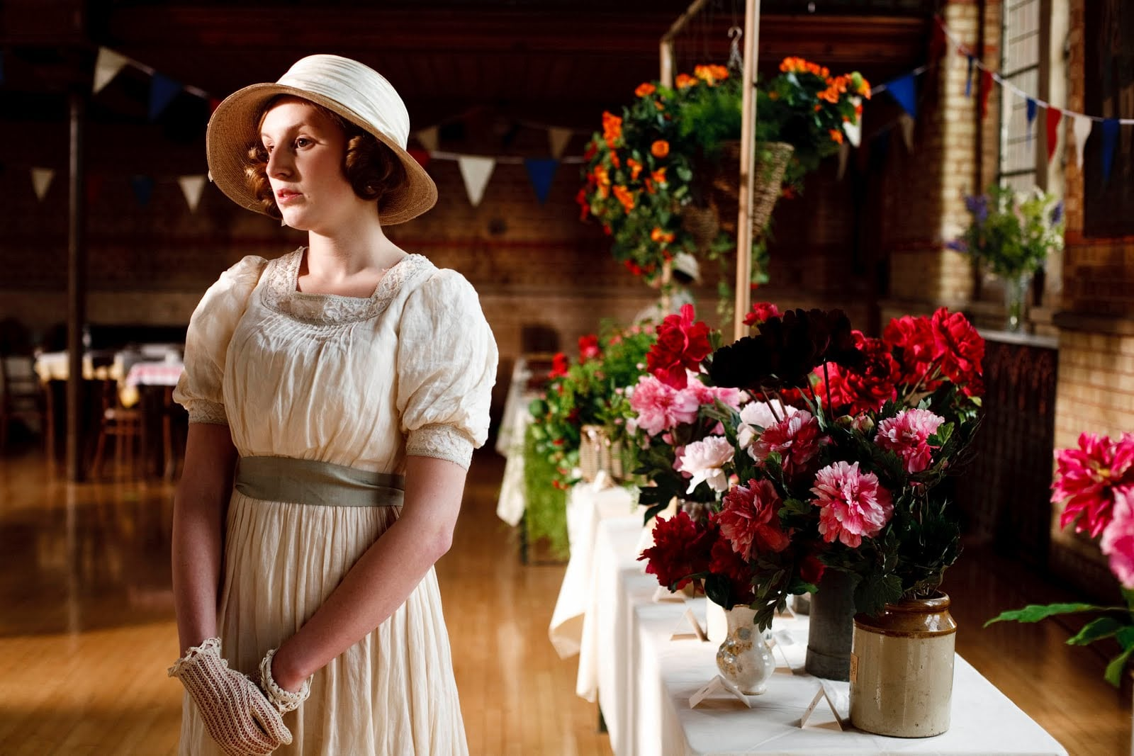 The lack of contemporary deodorants isn't to say that people smelled awful, though. Upper-class women like Edith might bathe every day —after, of course, a servant ran the bath for them. Some soaps, such as Yardley, that the Downton Abbey characters might have used are still around today. Source: ITV