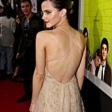 She showed off the back, which was arguably one of the best parts of the dress.