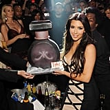 Kim Kardashian celebrated the launch of her fragrance at Tao Las Vegas in February 2010.