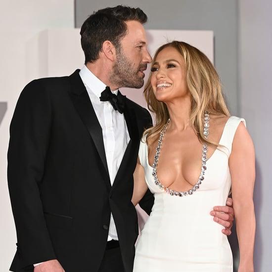 Jennifer Lopez's White Dress at The Last Duel Premiere