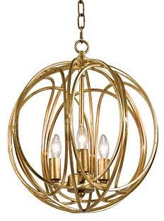 Regina-Andrew Design 3-Bulb Gold Ofelia Chandelier, Medium ($298)