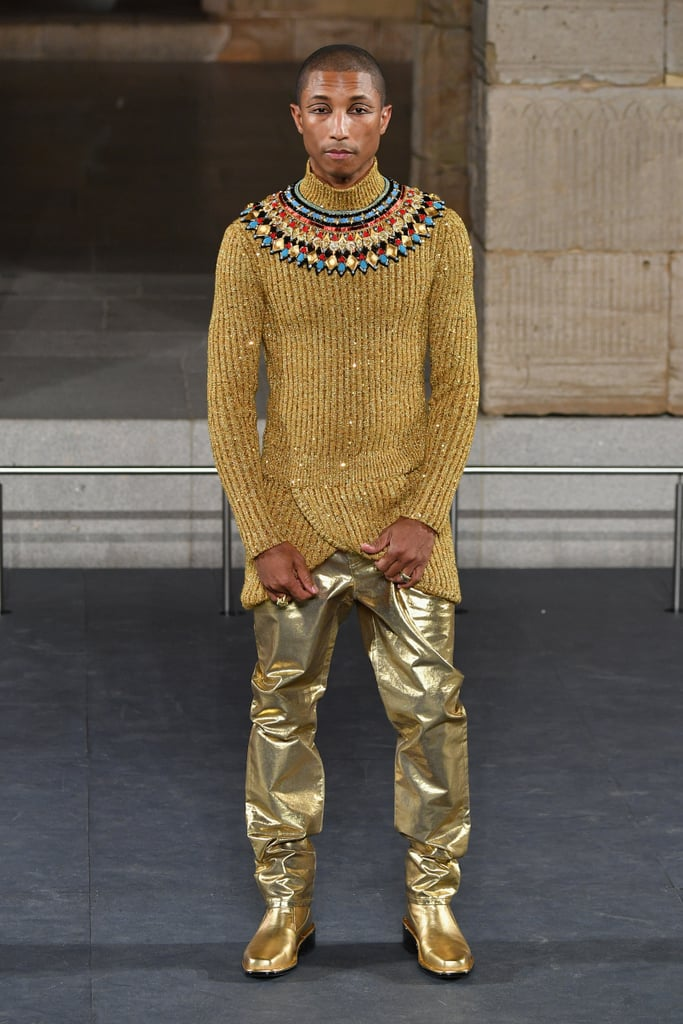 Pharrell William Also Modelled For the Brand, and Wore Gold Pants