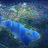 Aerial View of Shanghai Disney Resort