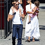 Matthew McConaughey, Camila Alves, Levi McConaughey, and Vida McConaughey enjoyed a family day.