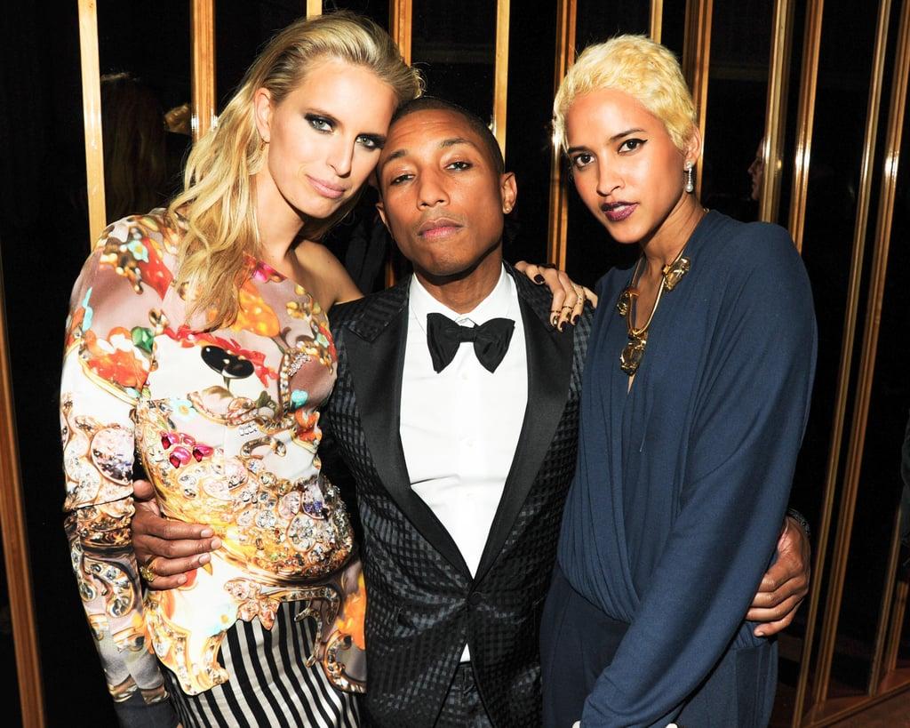 Karolina Kurkova, Pharrell Williams, and Helen Lasichanh. Source: Neil Rasmus/BFAnyc.com